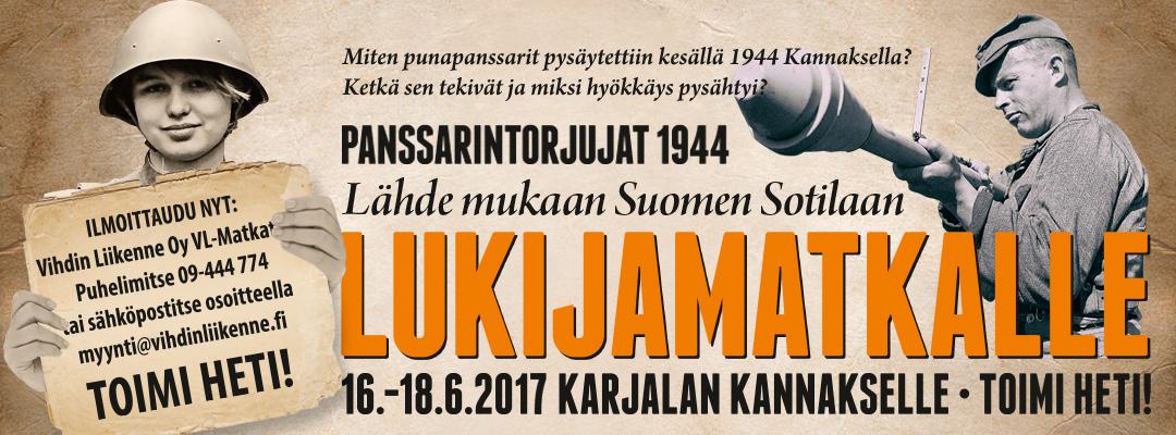 Suomen Sotilaan lukijamatka 2017 suuntautuu Karjalan Kannakselle