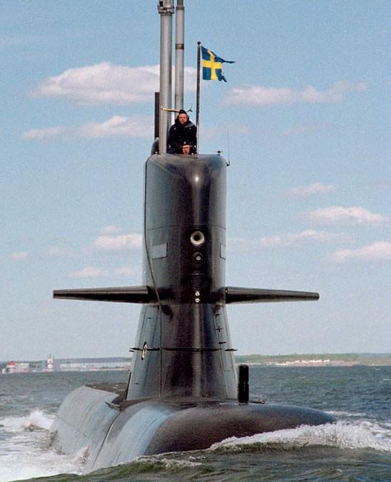 Ruotsin sukellusvenease Itämerellä