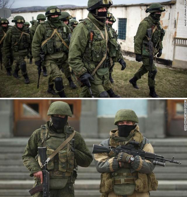 Krimillä on Venäjän asevoimien ensilinjan joukkoja