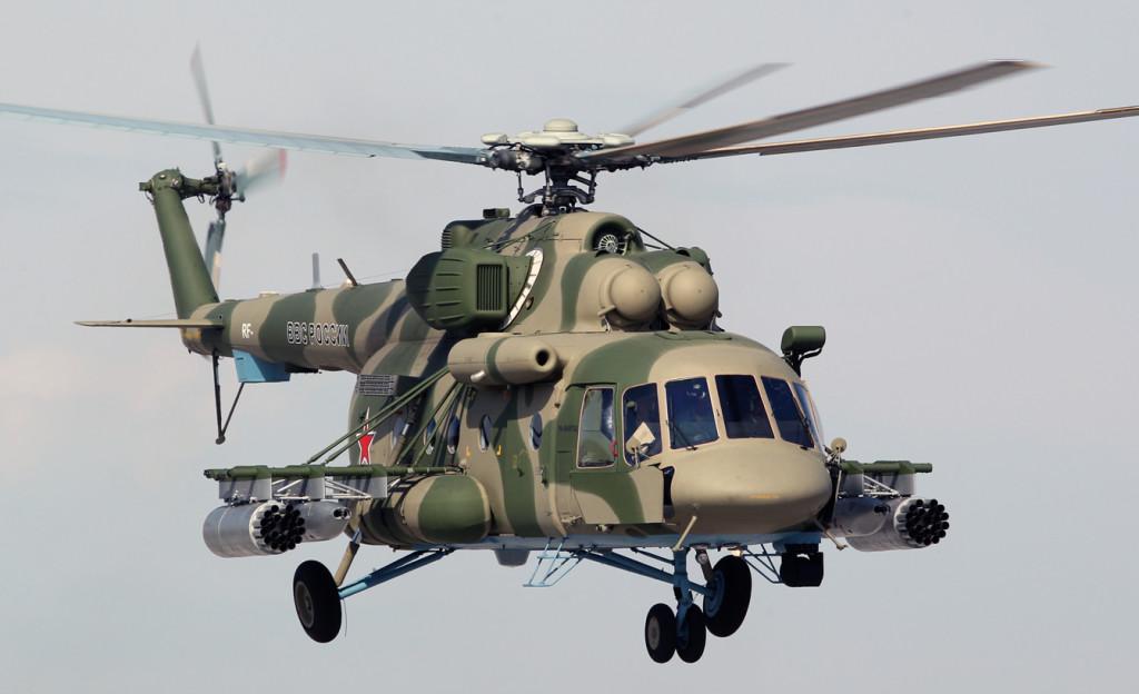 Mil Mi-8AMTŠ (Ми-8АМТШ) on muutama vuosi sitten Venäjän ilmavoimissa operatiiviseen käyttöön tullut keskikokoinen kuljetus- ja taisteluhelikopteri. Se soveltuu varustuksensa puolesta myös taistelukentällä suoritettaviin etsintä- ja pelastustehtäviin. Kuva: МО РФ