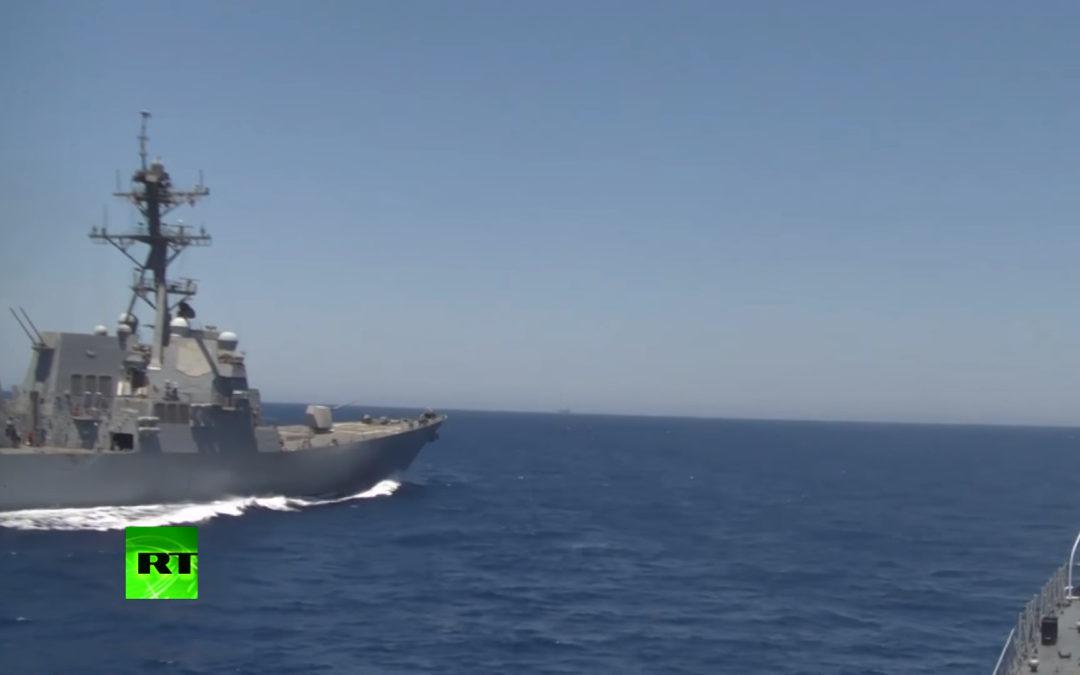 Välimerellä läheltä piti tilanne venäläisten ja amerikkalaisten välillä