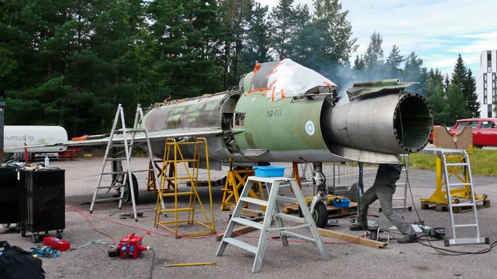 Ilmavoimien ensimmäinen MiG-21BIS romutettiin.