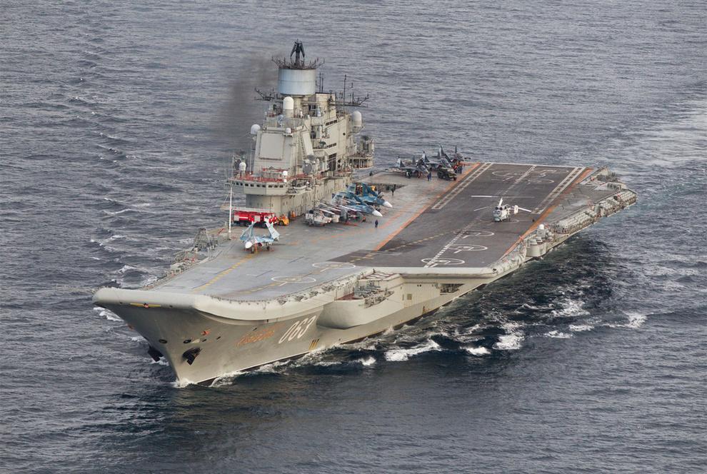 Venäläinen laivasto-osasto matkalla Välimerelle
