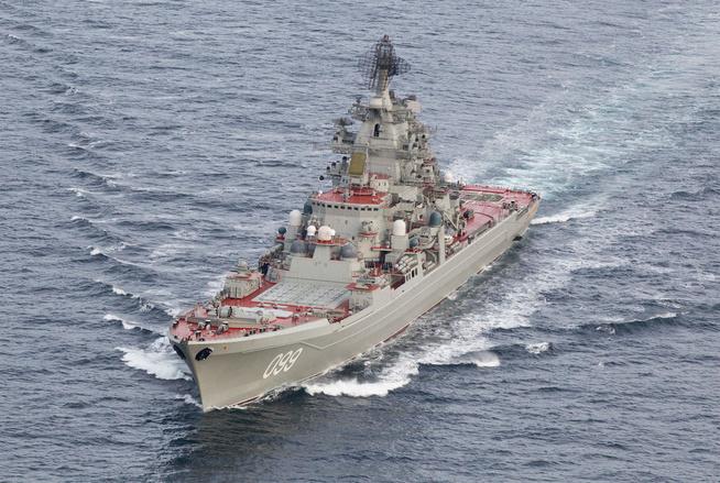 Orlan (Kirov) -luokan ydinkäyttöinen ohjusristeilijä Pjotr Veliki