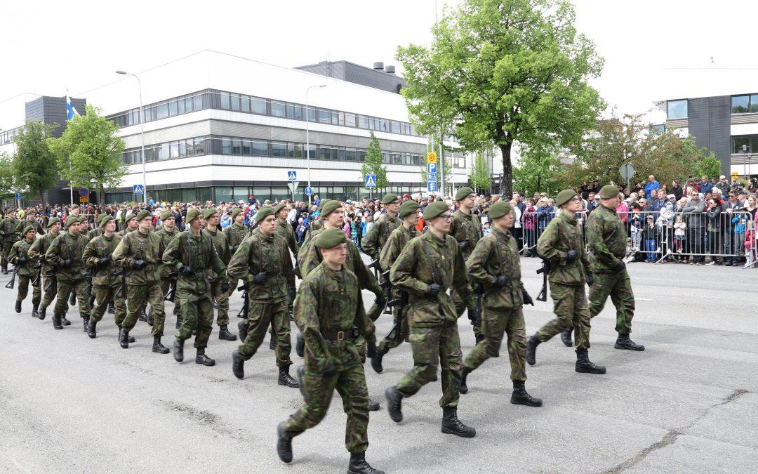Puolustusvoimain lippujuhlan päivän paraati 2018 Seinäjoella